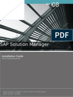 Sap Solution Manager - Installation Guide -  Initial Customizing