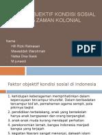 Faktor Objektif Kondisi Sosial Pada Zaman Kolonial
