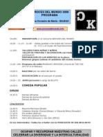Arroces del Mundo 2008 Programa Bilbao