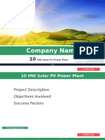 Project Proposal on 10MW Solar Pv Power Plant