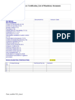 Meddev Certification_Mandatory Docs_Issue 1_30 12 2013