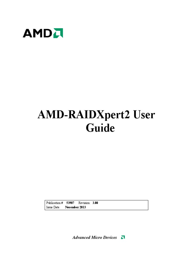 RAIDXpert2 UserGuide enu pdf | Bios | Computer Data Storage