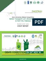 FAST Debate - Event Report