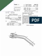 Attitude control device for fuel dispensing nozzle (US patent 4809753)