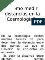 Como Medir Distancias en La Cosmología