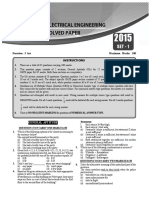 GATE Electrical Solved Paper
