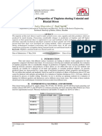  The Comparison of Properties of Tinplates during Uniaxial and Biaxial Stress
