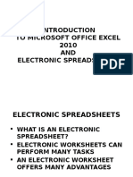 Excel 2010 Chap01 PowerPoint Slides for Class