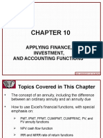 Excel 2010 Chap10 PowerPoint Slides for Class