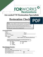 Restoration Checklist