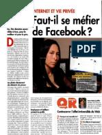 Faut-il se méfier de Facebook?