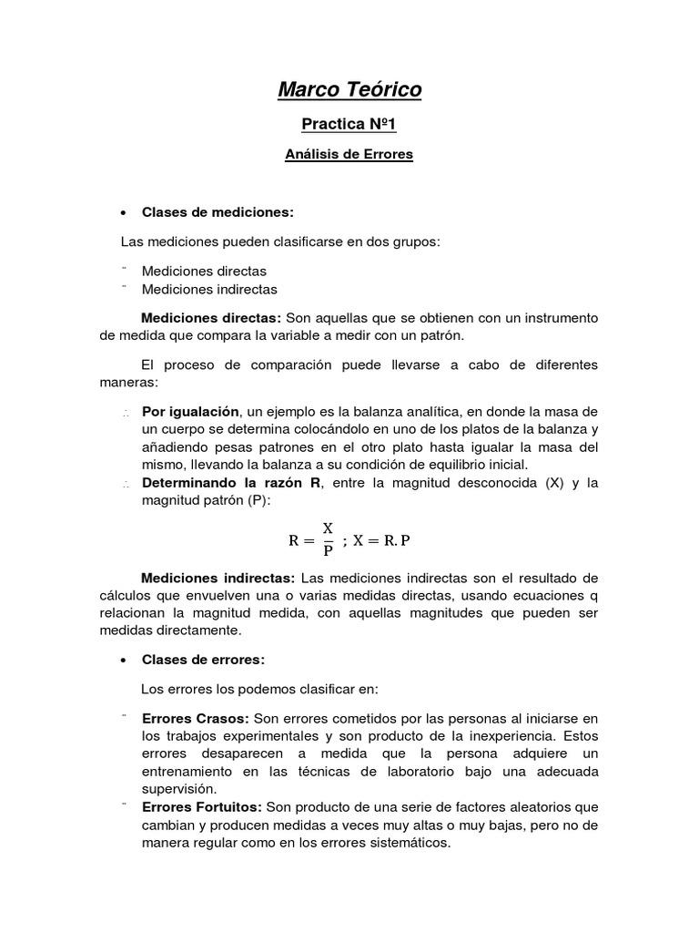 Marco Teorico Lab 1 Fisica 1 UNEFA 2014