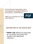 Accounting for Associates, Joint Arrangement and Equity