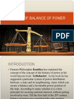 System of Balance of Power