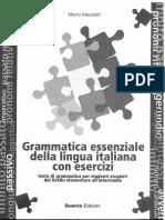 43369369 Grammatica Essenziale Della Lingua Italiana Con Esercizi Marco Mezzadri