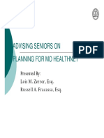 Advising Seniors on Planning for MO HealthNet