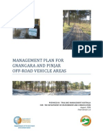 Management Plan for Gnangara and Pinjar Off-road Vehicle