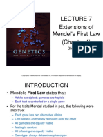 Lecture 7, Extensions of Mendelian Inheritance