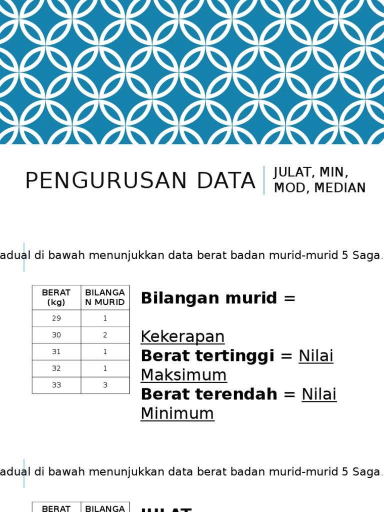 Pengurusan Data Tahun 5