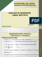 Análisis de Regresión Lineal Múltiple 2016