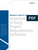 Importance of Early Project Requirements Definition