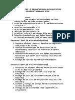 Acuerdos de La Reunión Para Documentos Administrativos 2016