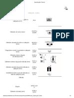 Especificações Técnicas - Cabeçote