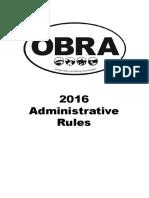 2016 Admin Rules
