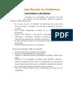 Aprendizaje Basado en Problemas_Papel Del Profesor