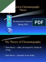 Chm 1222 Chromatography Theory