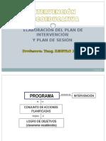 Plan de Intervención y Sesión en Terapia