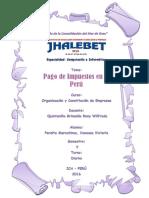 Monografia Pago de Impuestos en El Peru