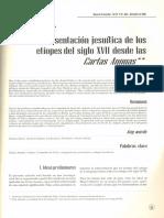 La representación jesuítica de los etíopes del siglo XVII desde las Cartas Annuas - María Cristina Navarrete