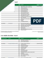 Core Skills Checklist Excel
