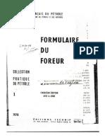 Formulaire Du Foreur Français