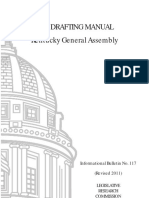 Bill Drafting Manual Kentucky General Assembly