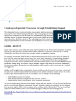 creating an equitable equity classroom through establishing respect