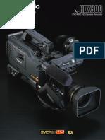 Panasonic Aj Hdx900