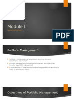 Module I - Market Efficiency