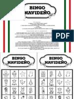 Bingo Navideño - Blanco y Negro