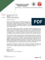 Carta del Consejo General de Estudiantes al municipio de San Juan