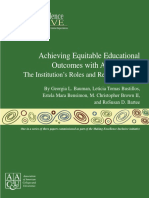 achieving equitable educational outcomes with all students  the institutions roles and responsibilities