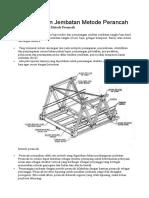 Pemasangan Jembatan Metode Perancah