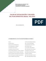 Poa 2015 - Resumen Taller 2015a