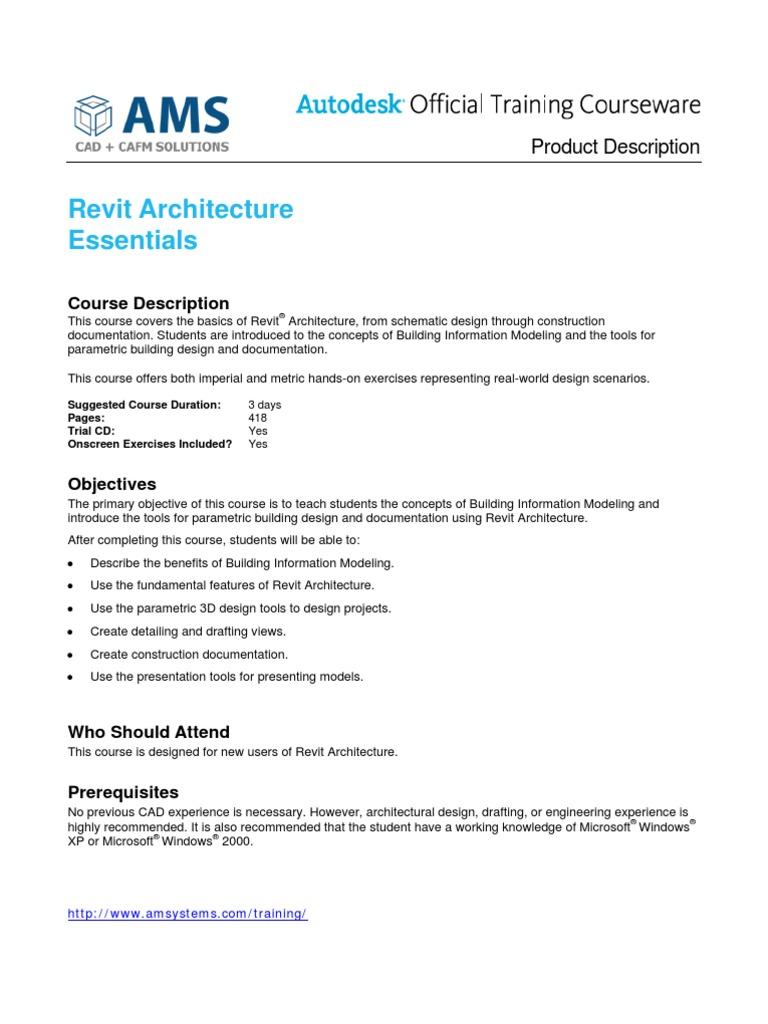 Revit Architecture Essentials   Autodesk Revit   Building