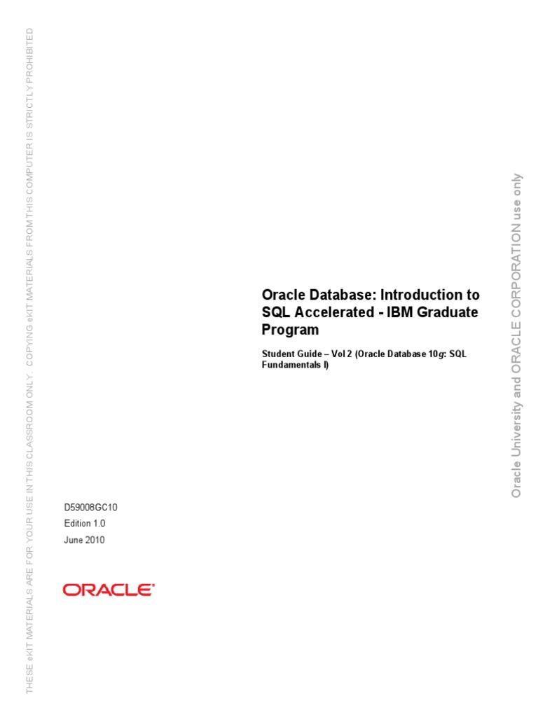 229673798-ORACLE-SQL pdf | Oracle Database | Sql