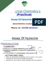 Hyoscine Assay Lecture-3a