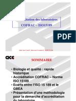 Cnam Cofrac Iso 15189