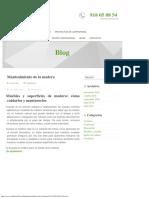 Mantenimiento de La Madera – Blog Carpinteria Jd7