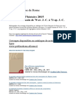 Bibliographie Complete Des Ouvrages EFR Disponibles Pour AGREG Histoire 2015